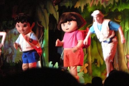 Dora the Explorer show at Butlins Minehead Centre Stage