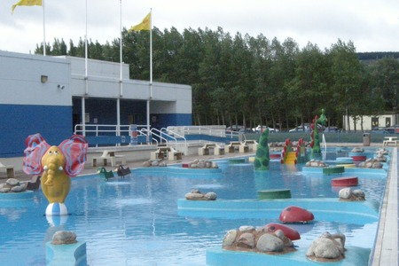 Outdoor fun pool at Minehead Butlins