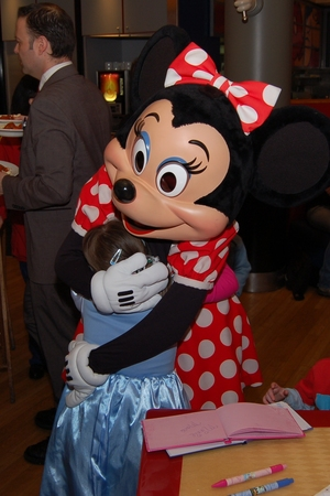 Minnie Mouse at Cafe Mickey in Disneyland Paris