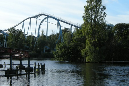 Shockwave - Europe's only standup roller coaster at Drayton Manor