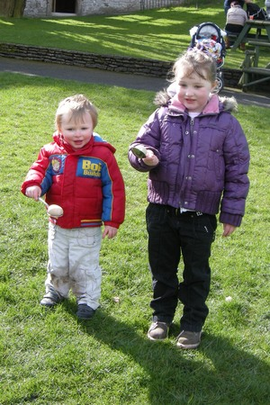 Easter egg and spoon race at Dudley castle and zoo