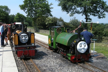 Percy and Owl at KLR's Day out with Thomas