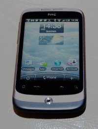 HTC Wildfire - running the Android (Linux) operating system