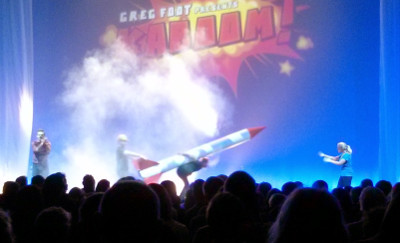 Rocket during Kaboom show at the Big Bang Fair