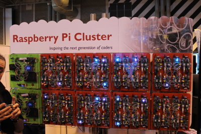 Raspberry Pi cluster from GCHQ at the Big Bang Fair