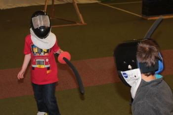 Children's fencing at Butlins minehead