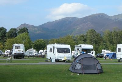 Camping at Keswick - Derwent Water in the Lake District