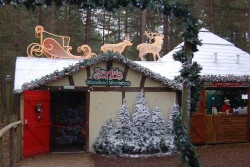 Santas workshop at Sherwood forest Center Parcs Christmas