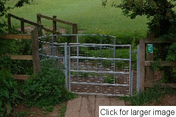 Coundon Wedge, pushchair and disabled friendly Kissing Gate - Click for larger image