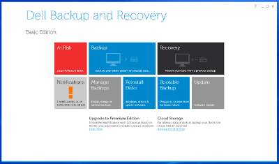 Dell Recovery and Backup Manager on Windows 8
