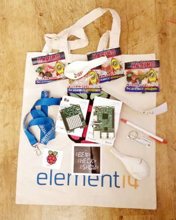 Element 14 Raspberry Pi bag of goodies
