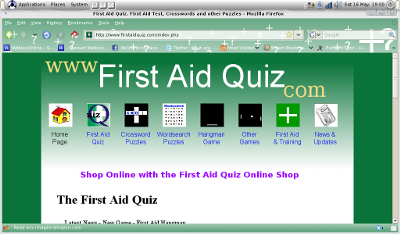 Firefox Web Browser with Persona from First Aid Quiz.com