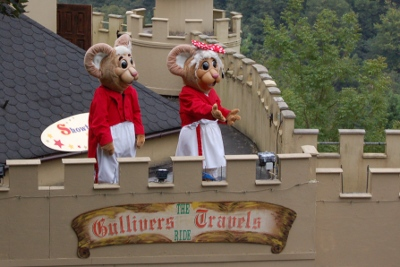 Gully and Gilly Mouse at Gulliver Kingdom Matlock Bath
