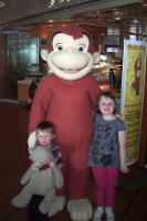 Curious George - children's entertainment on Stena Line Ferry to Holland