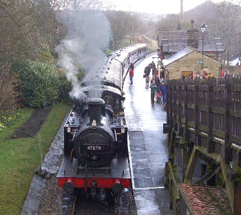 Steam Train at Howarth Railway Station