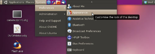 Ubuntu Lucid Lynx - Appearance menu move position of window buttons