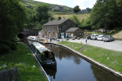 Marsden tunnel end cottages - Standedge canal tunnel
