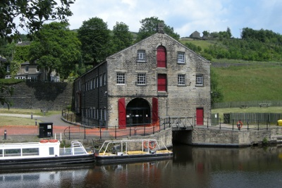 Waterways visitor centre at Standedge canal tunnel Marsden