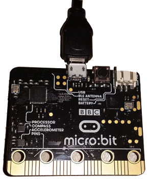 Microbit with serial connection to a Raspberry Pi linux computer