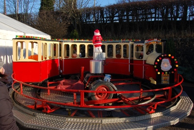 Mini train fairground ride at Butterley Station