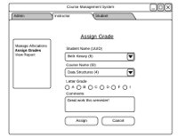 GUI Mockup for project for CS6310 Software Architecture and Design