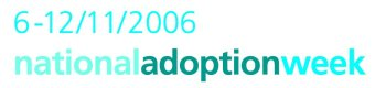 National Adoption Week Logo