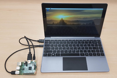 NexDock 2 - using a NexDock as the screen and keyboard for a Raspberry Pi laptop style