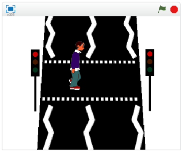 Pedestrian crossing scratch program