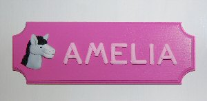Amelia room plaque