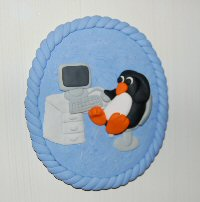 Linux Penguin Plaque
