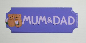 mum and dad room plaque