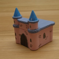 Craft - painted Castle at Wyn Abbot pottery