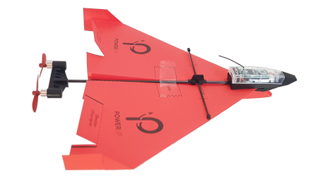 Smartphone controlled paper airplane - PowerUp 4.0