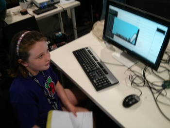 Programming Minecraft using Python at the PyconUK Raspberry Jam