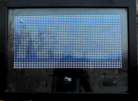Raspberry Pi RGB Matrix Display with Thank you NHS message