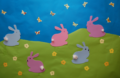 Spring craft pictures - rabbits and butterflies