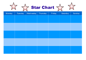 Reward Chart (star chart) for children