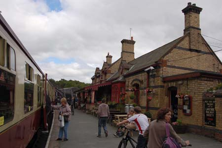 Haverthwaite Station on the Haverthwaite and Lakeside railway
