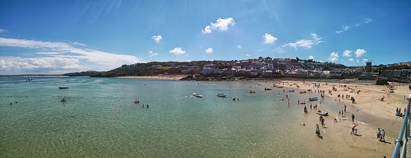Beach at St Ives - Panorama photo
