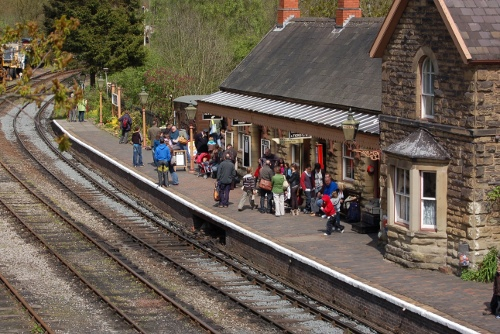 Highley train station on the Severn Valley Railway