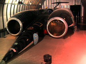 Thrust SSC at the Coventry Transport Museum