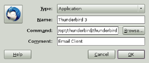 Create Thunderbird 3 launcher in Ubuntu Linux
