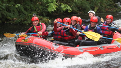 White water rafting at the National Whitewater Centre