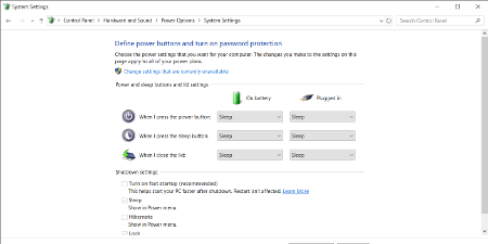 Windows 10 option to disable fast startup - allows access to NTFS drives from dual boot Linux