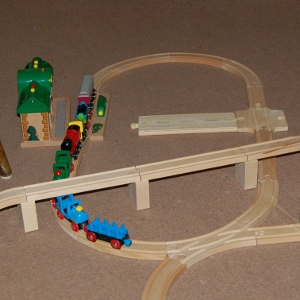 Wooden Train Set Toy