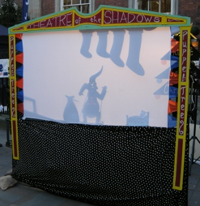 Shadow Puppet Theatre at Worcester Victorian Christmas Fayre