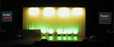 Projectors on Both Sides of the Stage - 2005